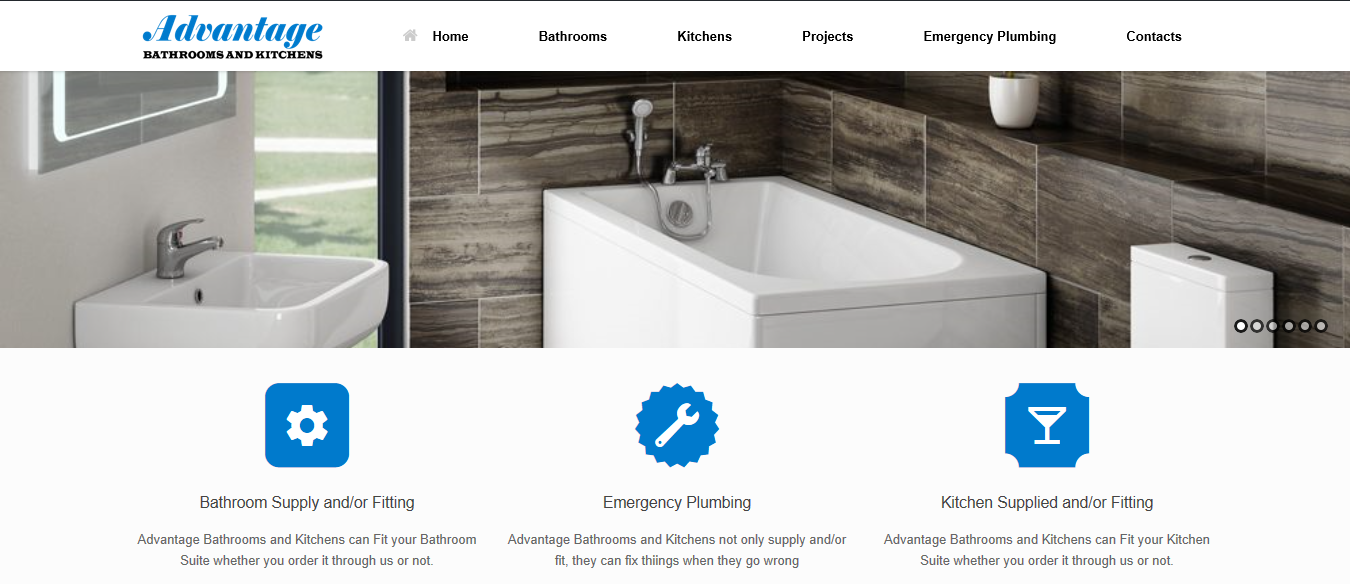 website design wigan advantage bathrooms and kitchens by JPSE Media Website Design and Marketing Wigan