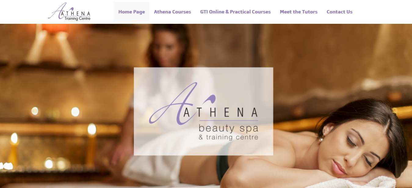 website design wigan athena beauty spa by JPSE Media Website Design and Marketing Wigan