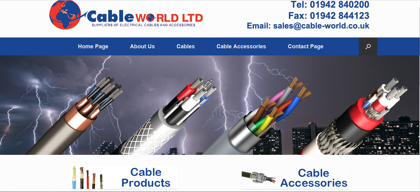 website design wigan cable world by JPSE Media Website Design and Marketing Wigan