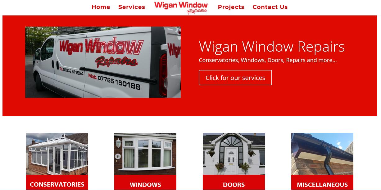 website design wigan window repairs by JPSE Media Website Design and Marketing Wigan